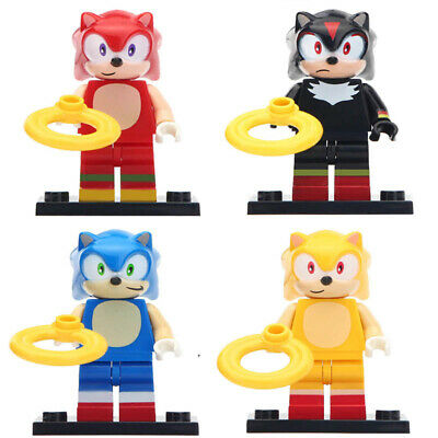 The Hedgehog Minifigure Sonic Shadow Knuckles Super Sonic Lego Moc Minifigures Ebay