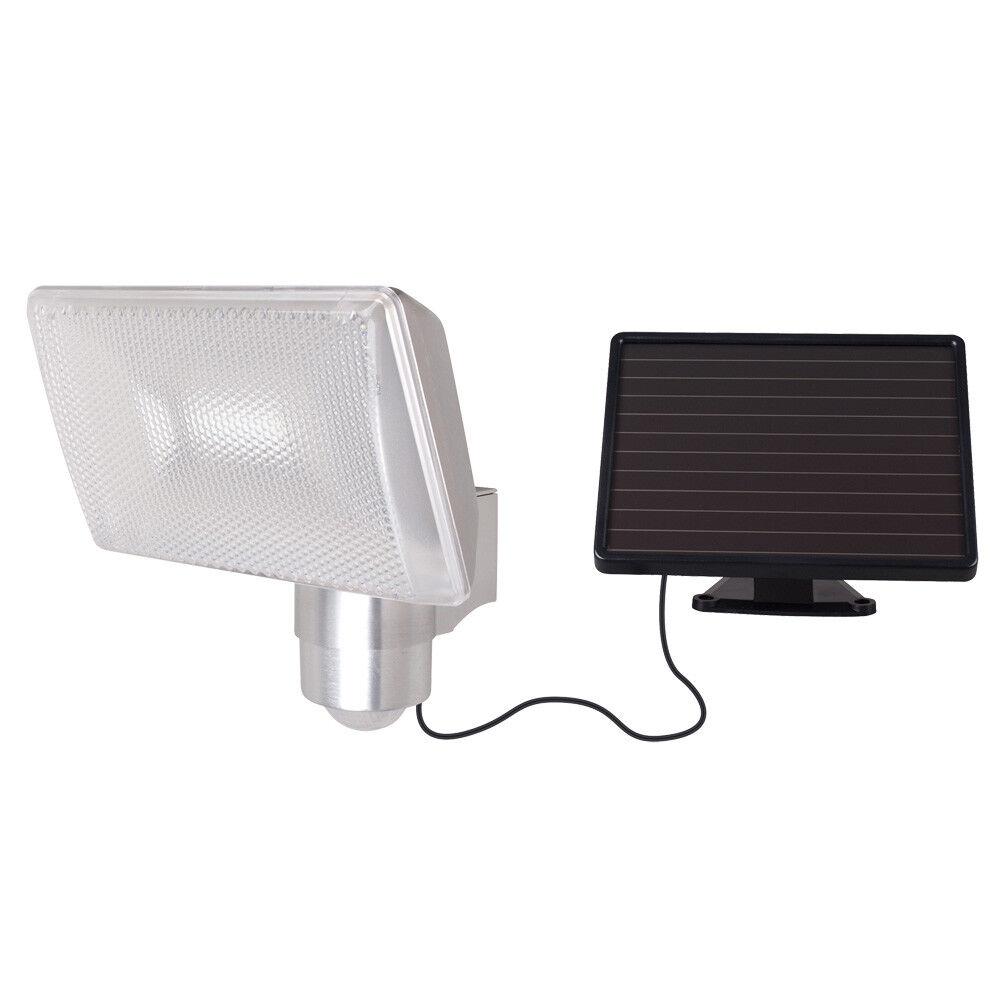 Solar LED emisor de infrarrojos detectores de movimiento 480lm Cochecasa Aluminio batería eh ip44