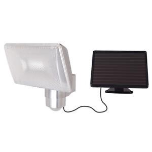solar led strahler infrarot bewegungsmelder 480lm alu geh use akku fluter ip44 ebay. Black Bedroom Furniture Sets. Home Design Ideas