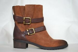 NATURALIZER-New-Short-Ankle-Mona-BOOTS-Coffee-Bean-Brown-Leather-Women-039-s-6-5W