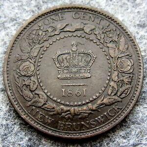 NEW-BRUNSWICK-CANADA-QUEEN-VICTORIA-1861-ONE-CENT