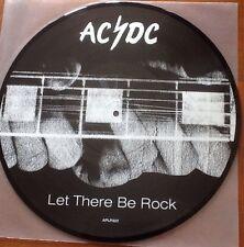 "AC/DC - Let There Be Rock PROMO PICTURE DISC 12"" VINYL  Australia RARE!!!"