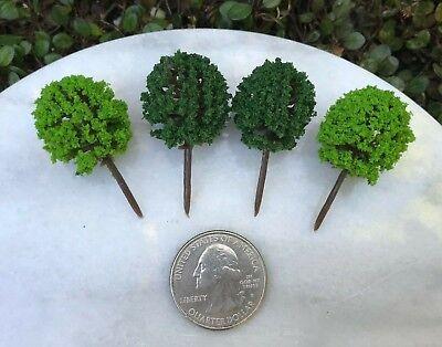 Accessories Miniature Dollhouse FAIRY GARDEN Set of 4 Mini Topiaries