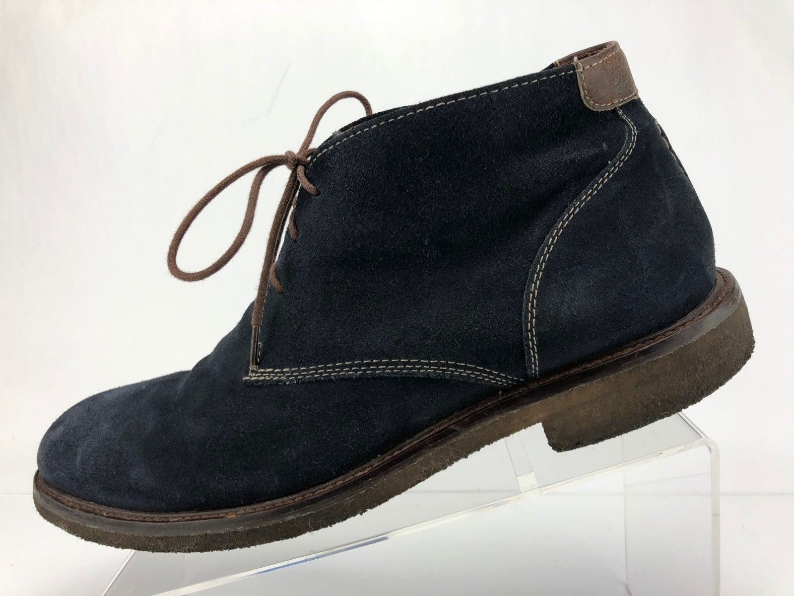 Johnston Murphy Copeland Chukka Boots bluee Oiled Suede Leather Mens Size 10 M