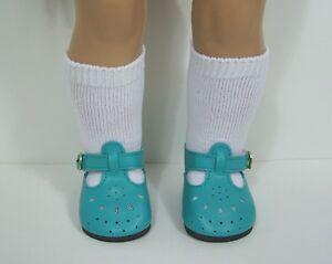 AQUA-Fancy-T-Strap-Tstrap-Doll-Shoes-EZ2-Close-For-18-034-American-Girl-Debs