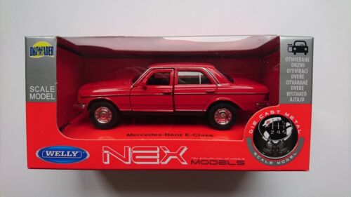 MERCEDES-BENZ E CLASS W123 RED 1:34-1:39 WELLY METAL CAR NIB