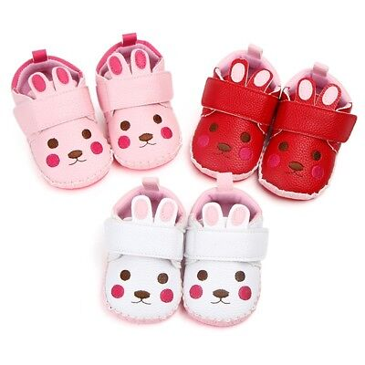 Newborn Toddler Baby Boys Girls Cartoon Rabbit Ear Soft Sole Casual Shoes Lovely