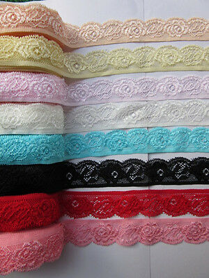 beautiful! High-quality, 5 yards stretch lace ribbon flowers, free shipping.