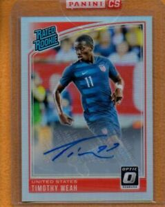 Timothy Weah 2019 Donruss Optic Rated Rookies Holo Prizm Autograph RC Auto