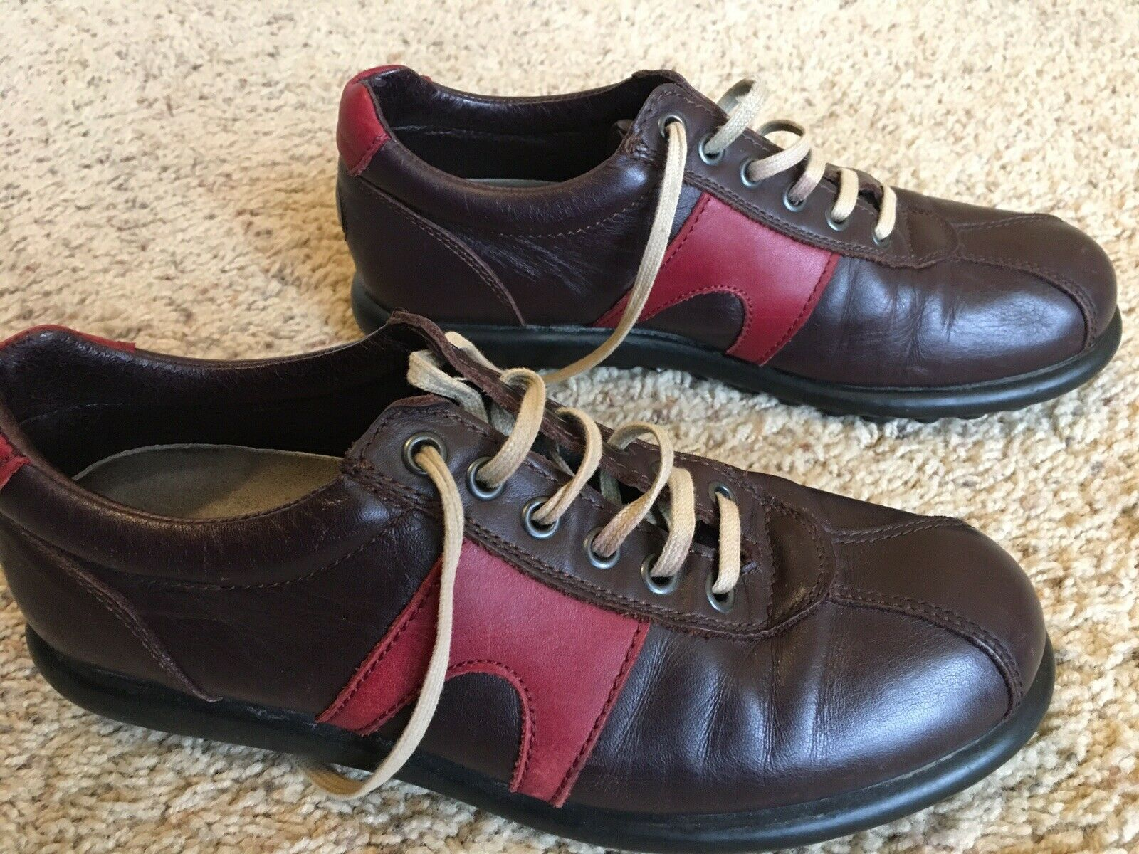 CAMPER Leather shoes - Sz 8 ()  BROWN Lace Up   MADE IN PORTUGAL