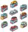 Conjunto-de-10-coches-modelo-1-48-Mercurio-Mercedes-VW-LANCIA-F-AT-Alfa-HACHETTE-DIECAST miniatura 1