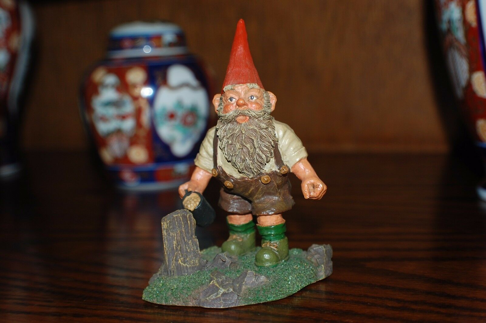 Rien Poortvliet Classic David the Gnome Kabouter Statue Hansli