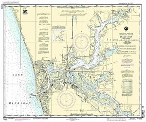 NOAA Chart Grand Haven, including Spring Lake and Lower Grand River 25th Edition