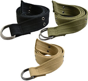 D Ring Military Pistol Style Belt 1.5