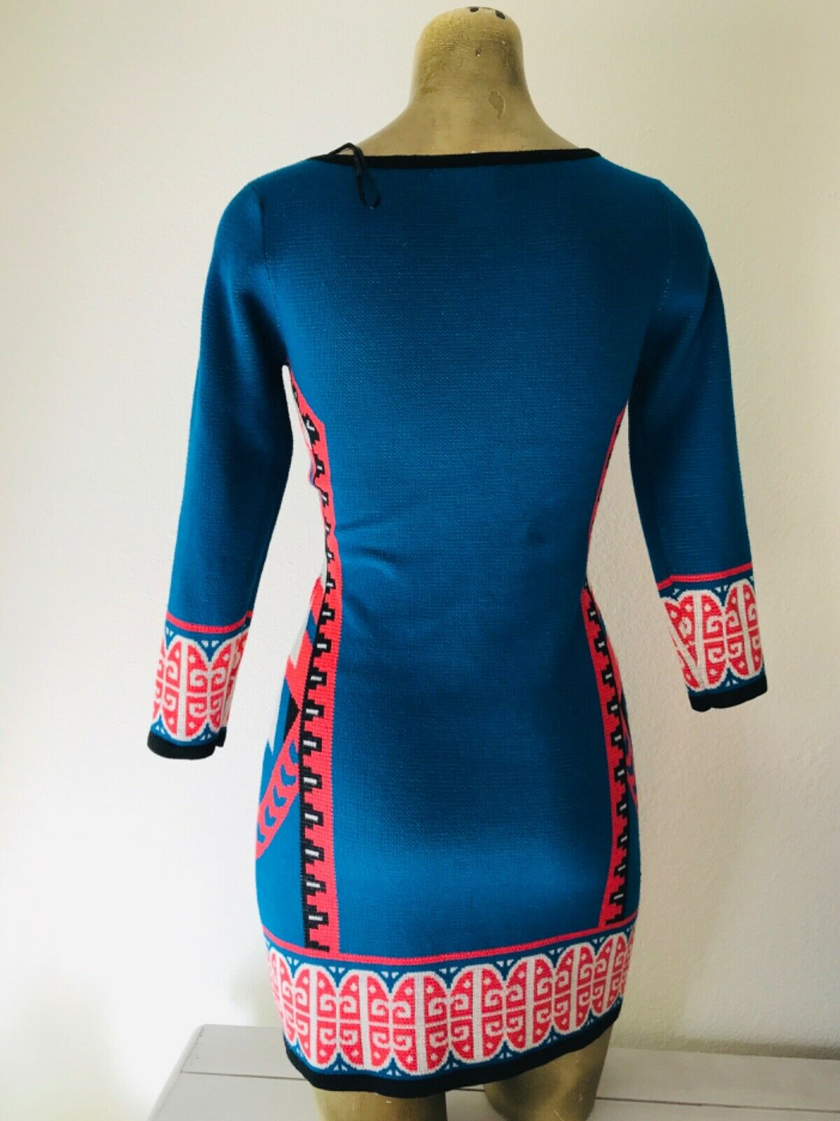 FLYING TOMATO Tribal Print Knit DRESS XS - image 6