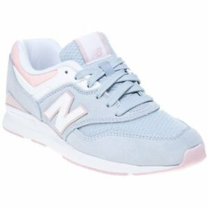Details about New WOMENS NEW BALANCE PALE BLUE PINK 697 TEXTILE Sneakers Retro