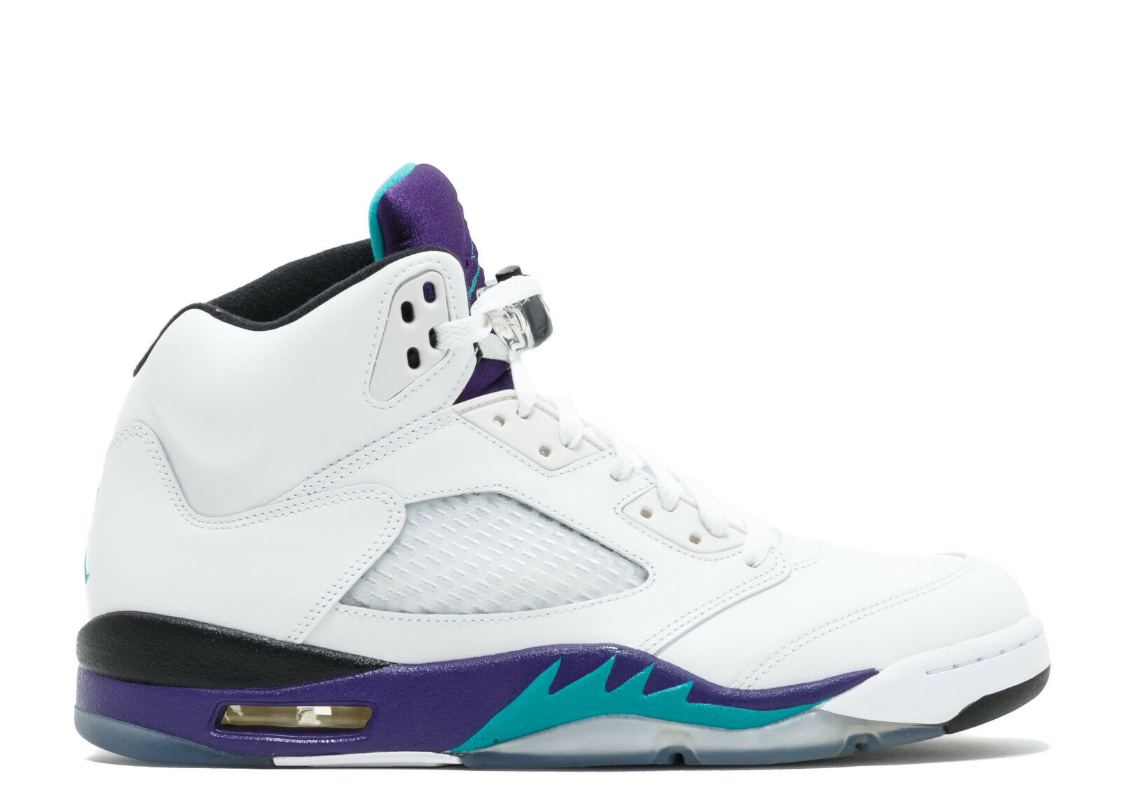 2018 Nike Air Jordan 5 V Retro Grape White Purple Teal size 13.136027-108.