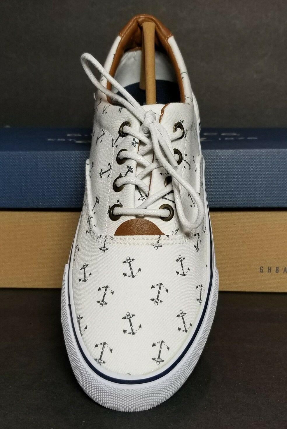 G H BASS SNEAKERS NAUTICAL ANCHORS WOMEN/'S SIZE 5 /& 6 /& 7 NEW //BOX 0253-3522-078