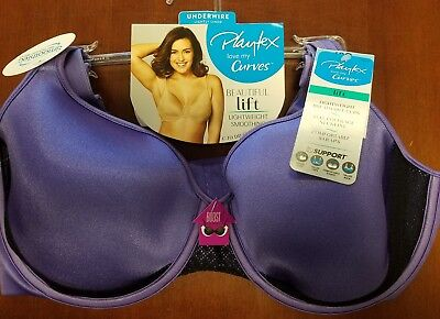 Playtex Love My Curves SmoothTec Underwired Lift Bra Purple Select Size USS520