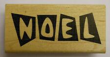 Retro Noel Rubber Stamp - Wood mounted JudiKins