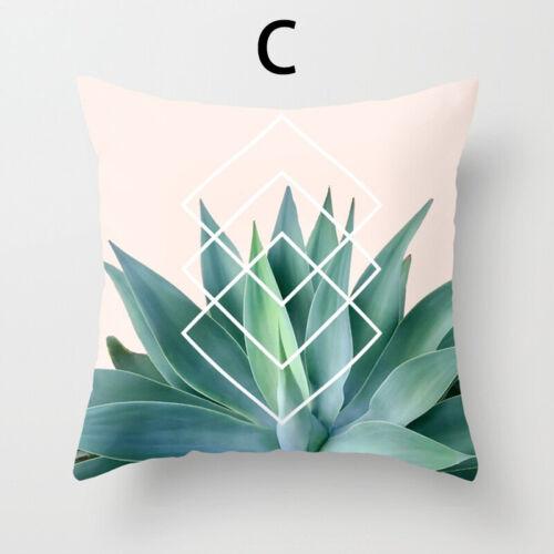 Square Cotton Linen Flower Pillow Case Sofa Throw Waist Cushion Cover Home Decor