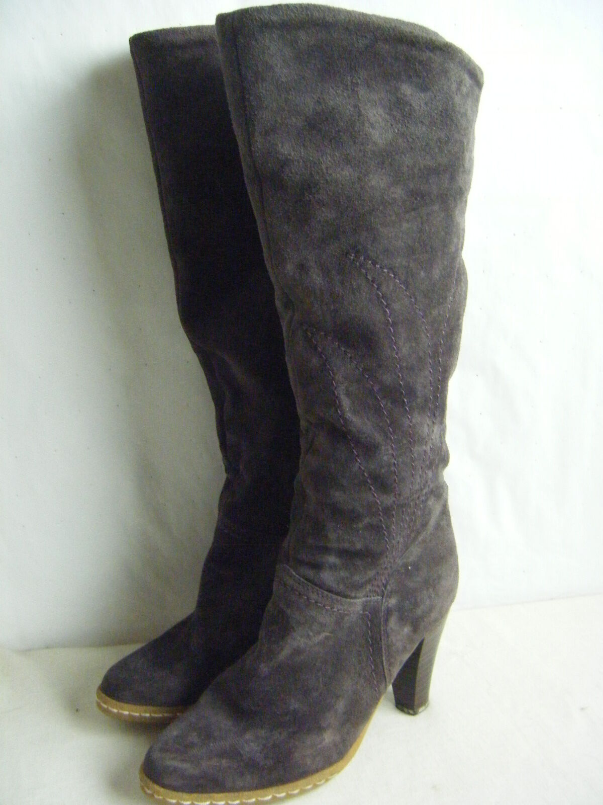 LIBELLE Vtg 70s lila Suede Tall Tall Tall Stiefel w Fleece Lined- sz 6 ba7aed