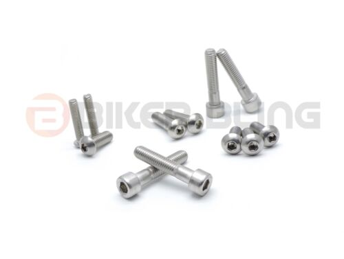 BMW S1000RR 2009 stainless steel front /& rear foot rest hangers rearset bolts