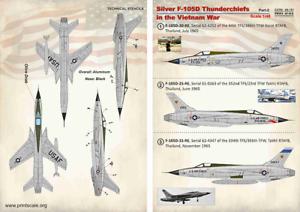 Print-Scale-Decals-1-48-Plata-Republica-F-105D-Thunderchiefs-en-el-Vietnam-War