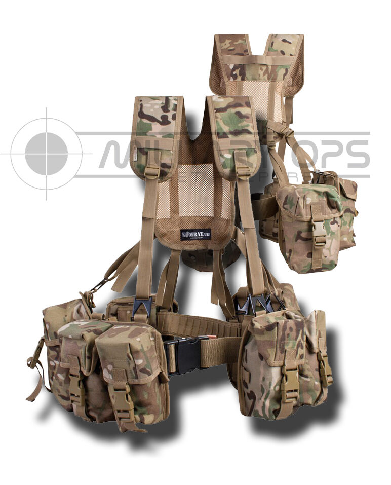 PLCE WEBBING 6 PIECE MULTICAM MTP ISSUE STYLE  SET ARMY AFGHAN BRITISH CADET  choose your favorite