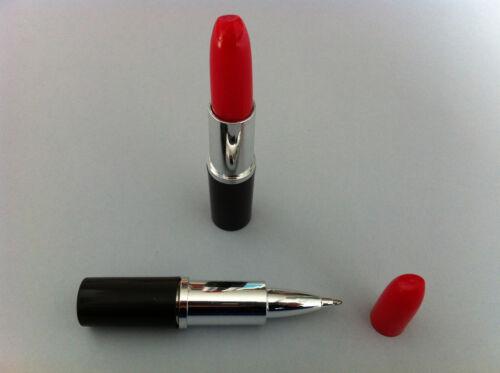 2 Kugelschreiber Lippenstift encre blau Streich humorvoll neu