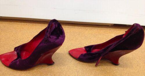 Toe Ford tom con rosso Purple Velvet Saint Heels zeppa tacco Peep Laurent qR0wBRpO