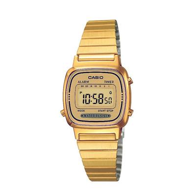Orologio Donna CASIO Vintage LA-670WG-9 Gold Acciaio Dorato Classico Digitale