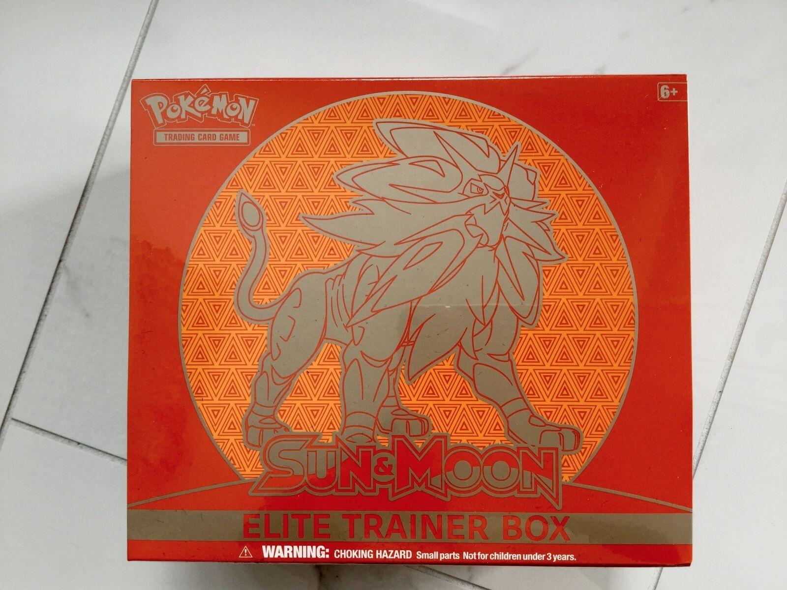 POKEMON ENGLISH EDITION SUN & MOON SOLGALEO RED ELITE TRAINER BOX F S