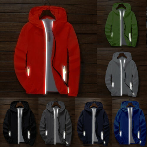 Hot Men/'s Waterproof Windbreaker ZIPPER Jacket hoodie Light Sports Outwear Coat