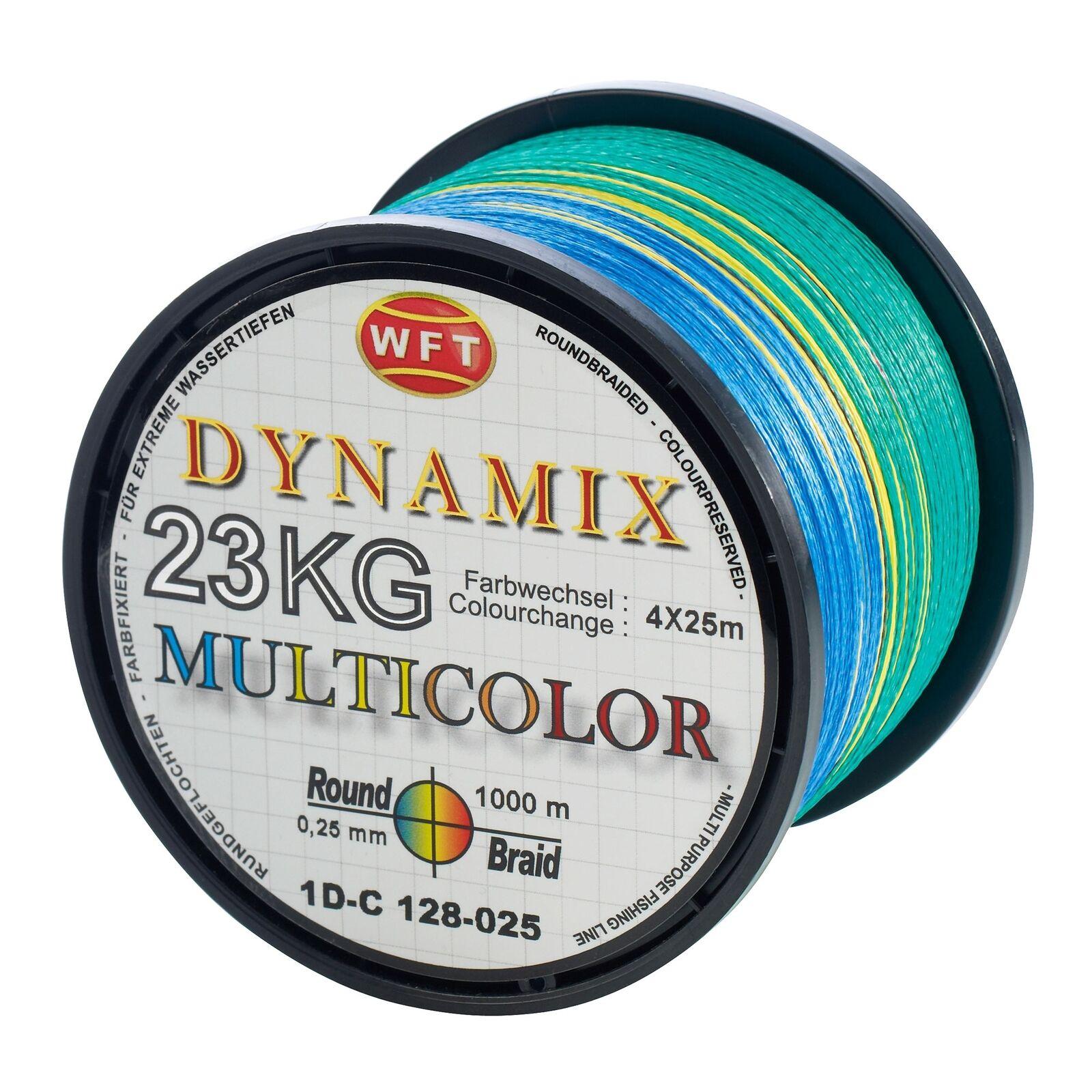 (  m) WFT WFT WFT Round Dynamix MultiFarbe rund geflochtene Angelschnur 1000m Geflec e88f91
