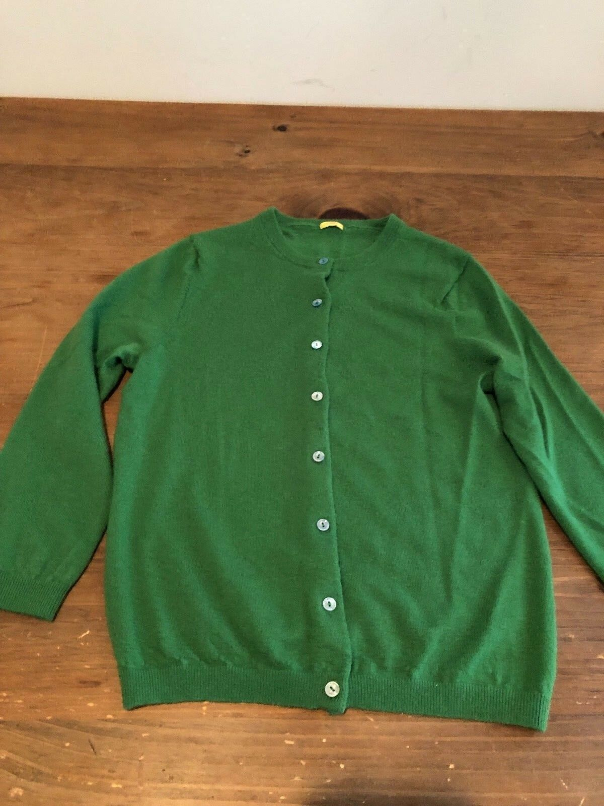 J.CREW Cashmere Womens Green Button Up XS Jumper EXC COND