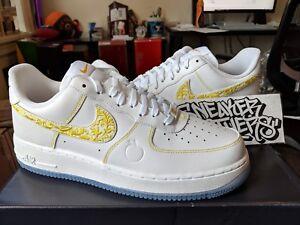 242d4016edbda Nike Air Force One 1 '07 LV8 City Pride Atlanta White Metallic Gold ...