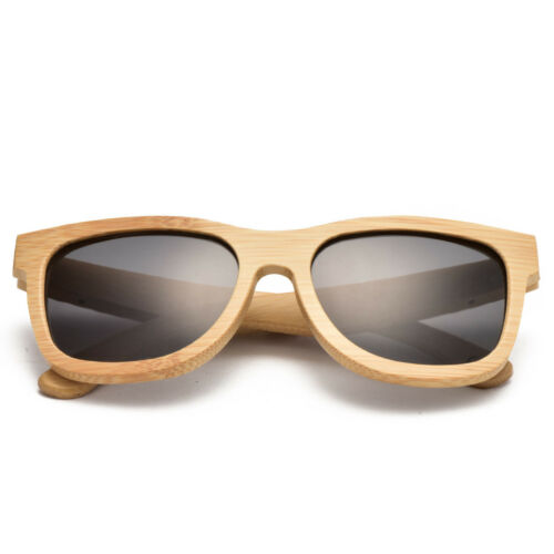 Hommes et femmes avec les lunettes de soleil en bambou naturel polarisées TA01-B