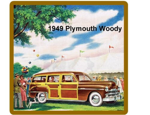 1949 Plymouth Woody Auto Refrigerator Tool Box  Magnet