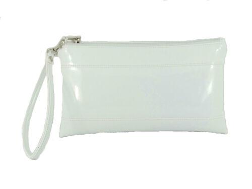 LONI Womens Girls Adorable Patent Faux Leather Clutch Bag Wallet Purse Wristlet