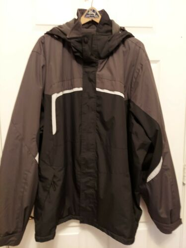 Athletics Black Gray Hooded Winter Water Resistant