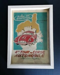 Cadre décoration affiche vintage Corse 4em tour de Corse