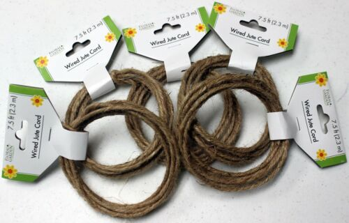 -- 5 Sets Total 37.5 Ft. each 5 Sets Wired Jute Cord 2m 7.5 Ft.