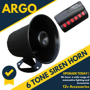 NEW 12V CAR SIREN HORN PA SYSTEM NOVELTY LOUD MULTI TONES SOUNDS