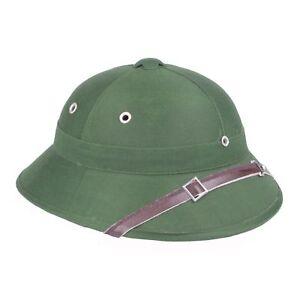 Vietnam War Army Hat Nva Vietcong Vc Pith Helmet Gray-33662 Men's Military Hats