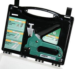 Tacker-Starterpack-mit-Handtacker-Klammern-und-Naegel-Komplett-Set-im-Koffer