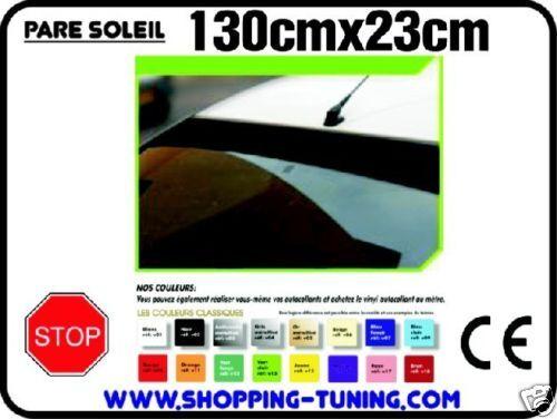 sticker autocollant bande pare soleil oracal VINYL PLEINE MASSE Taille 130x23cm