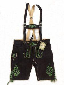 Stockerpoint Lederhose Rupert schwarz 46 48 50 52 56 58 Tracht gespeckt grün kur
