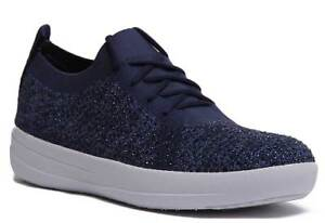 a25e94d7bbb9ca Image is loading Fitflop-F-Sporty-Crystal-Womens-Navy-Blue-Trainers-