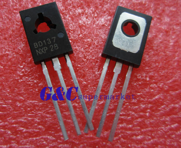 20PCS BD137 TRANSISTOR NPN 1.5A 60V TO126 NEW GOOD QUALITY TO2